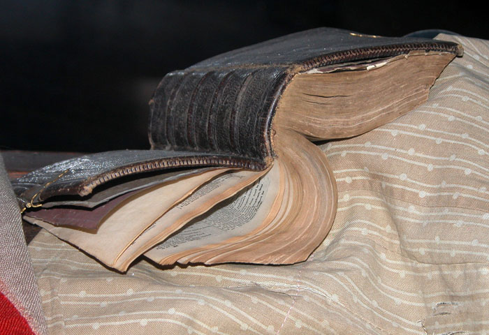 Leather-bound Bible
