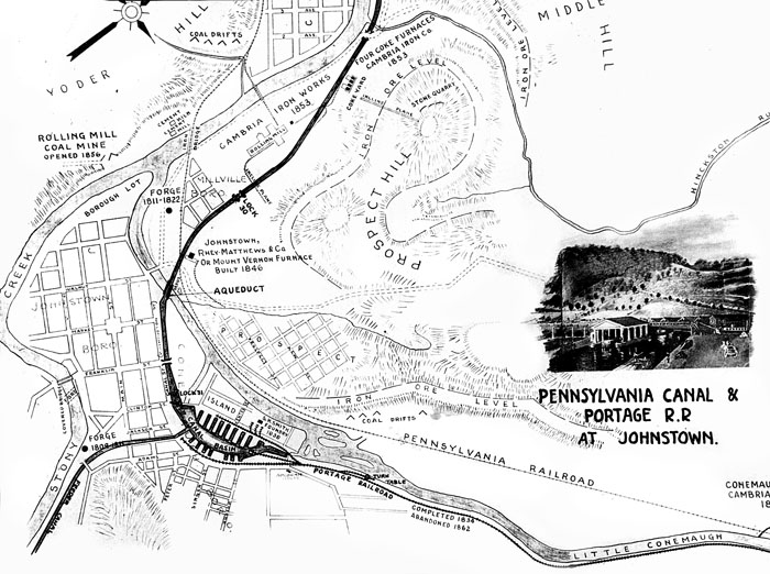 Gallery Of Historic Maps Of Johnstown
