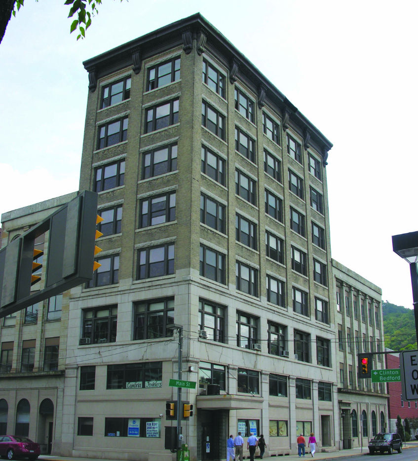 The Carnegie Building (ca. 1900), seven stories tall, was originally the Title Trust and Guarantee Building. This prominent downtown office building has a ...
