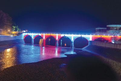 Dedication Stone Bridge Lighting Project Johnstown Area
